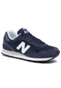 Niebieskie buty sportowe New Balance na co dzień, z cholewką