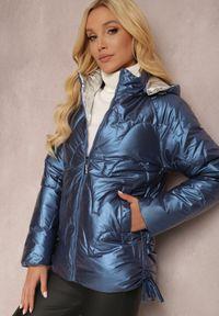 Renee - Niebieska Kurtka Linerin. Kolor: niebieski. Materiał: tkanina