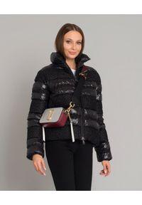 MONCLER - Czarna kurtka puchowa Dordogne. Kolor: czarny. Materiał: puch. Sezon: zima