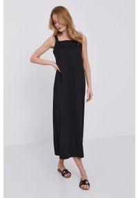 Max Mara Leisure - Sukienka. Okazja: na co dzień. Kolor: czarny. Materiał: dzianina. Długość rękawa: na ramiączkach. Wzór: gładki. Typ sukienki: proste. Styl: casual