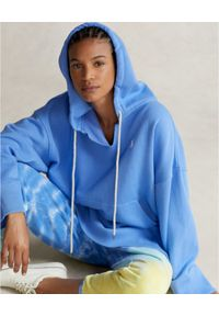 Ralph Lauren - RALPH LAUREN - Niebieska bluza z kapturem Relaxed fit. Typ kołnierza: kaptur. Kolor: niebieski. Materiał: materiał. Długość: długie