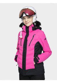 Różowa kurtka narciarska 4f na zimę, Dermizax