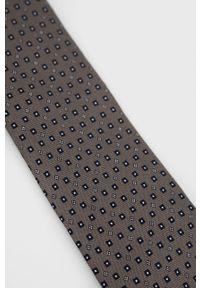 TIGER OF SWEDEN - Tiger Of Sweden - Krawat. Kolor: szary. Materiał: materiał