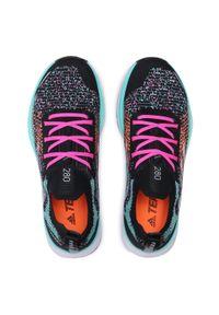 Adidas - Buty adidas - Terrex Two Primeblue FY0653 Cblack/Ftwwht/Acimin. Zapięcie: sznurówki. Kolor: czarny. Materiał: materiał. Szerokość cholewki: normalna. Model: Adidas Terrex. Sport: bieganie