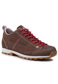 Brązowe buty trekkingowe Dolomite z cholewką