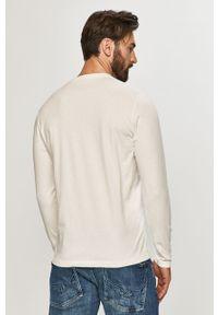 Biała koszulka z długim rękawem Pepe Jeans casualowa, na co dzień, z nadrukiem