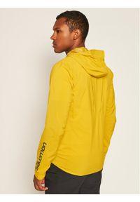 Żółta kurtka do biegania salomon
