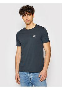Alpha Industries T-Shirt Basic Small Logo 188505 Szary Regular Fit. Kolor: szary