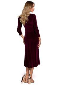 Sukienka wizytowa MOE klasyczna, w kształcie A, midi