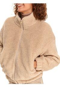 TOP SECRET - Krótka kurtka z boucle. Kolor: beżowy. Długość: krótkie