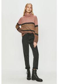 Sweter Jacqueline de Yong casualowy, z długim rękawem, na co dzień