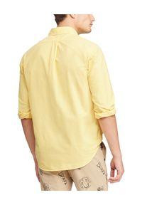 Ralph Lauren - RALPH LAUREN - Koszula Slim Fit Oxford. Typ kołnierza: polo. Kolor: żółty. Materiał: bawełna. Długość rękawa: długi rękaw. Długość: długie. Wzór: haft. Styl: klasyczny