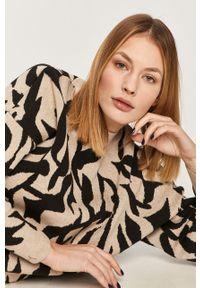 Beżowy sweter Answear Lab z długim rękawem, wakacyjny, długi
