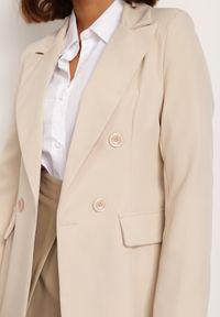 Renee - Jasnobeżowa Marynarka Cileia. Kolor: beżowy. Styl: glamour, klasyczny #4