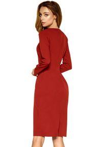 Lemoniade - Lekko dopasowana sukienka na eleganckie okazje. Okazja: na spotkanie biznesowe. Długość rękawa: długi rękaw. Typ sukienki: proste. Styl: elegancki