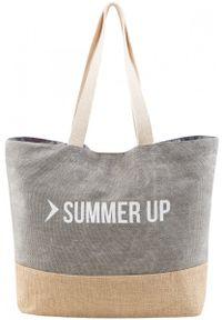 Szara torba plażowa outhorn na lato, melanż