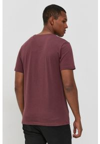 Jack & Jones - T-shirt bawełniany. Okazja: na co dzień. Kolor: czerwony. Materiał: bawełna. Wzór: nadruk. Styl: casual