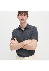 Czarna koszulka polo Reserved polo