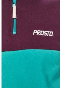 Fioletowa bluza nierozpinana Prosto. krótka, na co dzień, bez kaptura