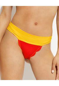 MARYSIA SWIM - Dwustronny dół od bikini Santa Clara. Kolor: czerwony. Materiał: materiał, nylon