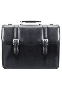 Czarna torba na laptopa MCKLEIN elegancka