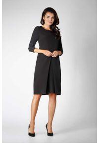 Czarna sukienka Nommo prosta, wizytowa
