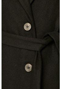 Czarny płaszcz Vila na co dzień, bez kaptura