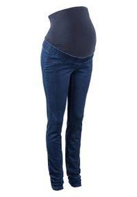 Legginsy ciążowe dla ciężarnych bonprix Legginsy ciąż dżins c.den. Kolekcja: moda ciążowa. Kolor: czarny