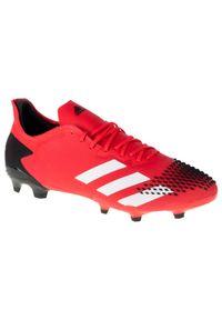 Czerwone korki Adidas w kolorowe wzory, z cholewką