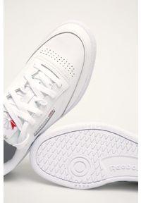Białe sneakersy Reebok Classic z okrągłym noskiem, z cholewką #5