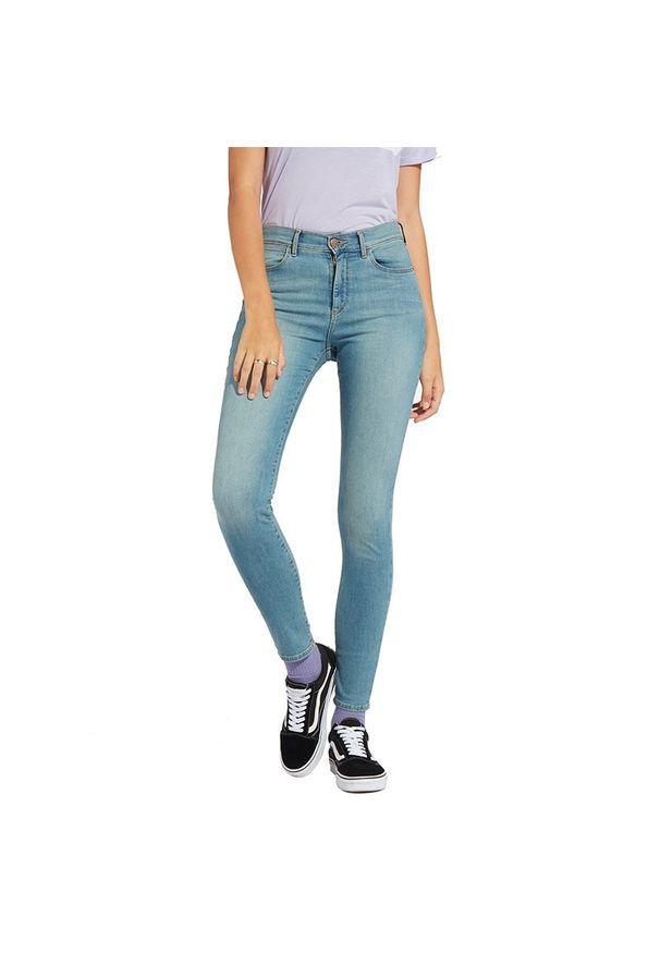 Jeansy Wrangler High Rise Skinny W27HTQ21W. Styl: elegancki