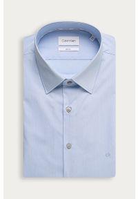 Niebieska koszula Calvin Klein z klasycznym kołnierzykiem, długa