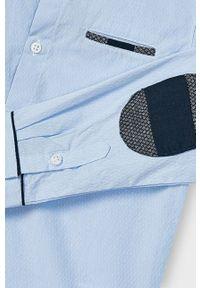 Niebieska koszula Mayoral gładkie, z klasycznym kołnierzykiem