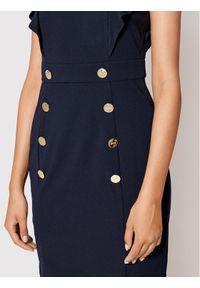 DKNY Sukienka koktajlowa DD1E2558 Granatowy Slim Fit. Kolor: niebieski. Styl: wizytowy