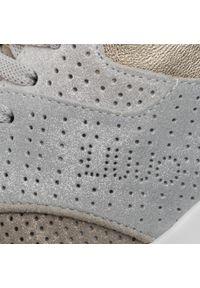 Złote buty sportowe Liu Jo z cholewką