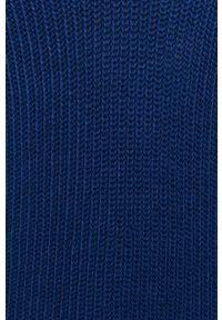 Niebieska sukienka Noisy may na co dzień, z długim rękawem
