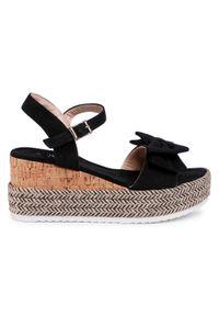 Czarne sandały Jenny Fairy na co dzień, casualowe