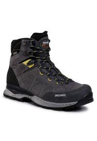 Szare buty trekkingowe MEINDL z cholewką, Gore-Tex, trekkingowe