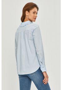Niebieska koszula Answear Lab na co dzień, długa, gładkie