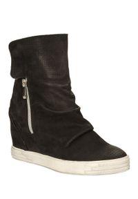 Czarne buty sportowe Karino w kolorowe wzory, na jesień