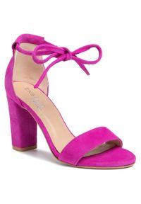Różowe sandały Eksbut na co dzień, casualowe