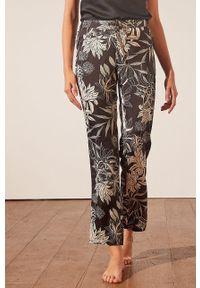 Etam - Spodnie piżamowe New Sali. Kolor: czarny