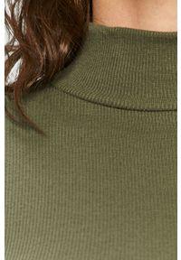 Zielony sweter Haily's z golfem, z długim rękawem, długi #5
