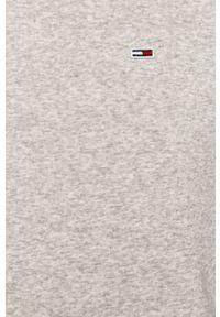 Szara bluza nierozpinana Tommy Jeans na co dzień, casualowa, z kapturem