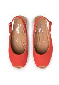 Pomarańczowe sandały Gabor casualowe, na co dzień