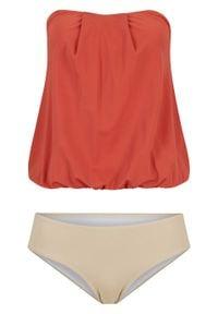 Tankini (2 części), przyjazne dla środowiska bonprix czerwono-brązowo-piaskowy. Kolor: czerwony. Materiał: materiał