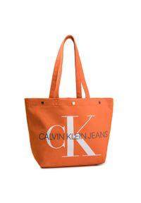 Pomarańczowa torebka klasyczna Calvin Klein Jeans klasyczna