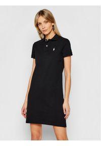 Czarna sukienka dzianinowa Polo Ralph Lauren casualowa, polo, na co dzień