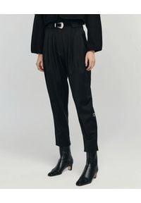 ANIA KUCZYŃSKA - Wełniane czarne spodnie Ornella. Stan: podwyższony. Kolor: czarny. Materiał: wełna