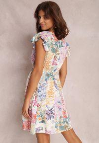 Renee - Kremowa Sukienka Armoren. Kolor: beżowy
